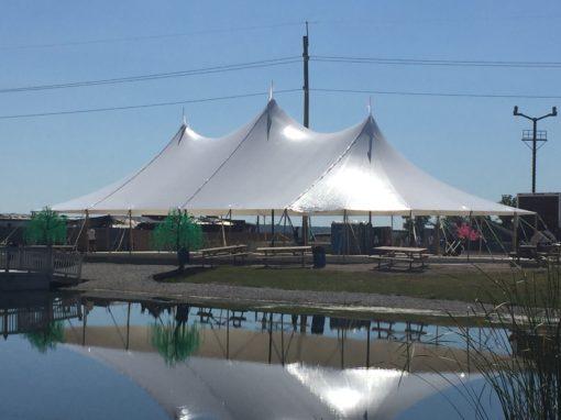 stillwater 57 x 96 sail cloth pole tent rental