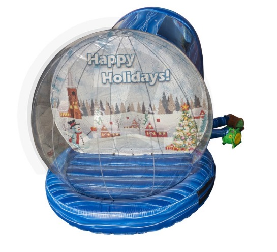 life sized human snow globe rental