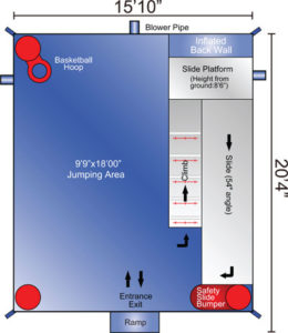 bounce house rental layout