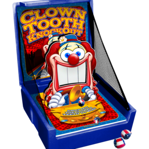 Clown Tooth Knock Down Carnival Game Rental