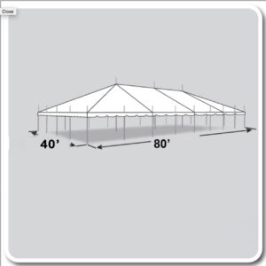 40 by 80-Pole-Tent rental for Cincinnati and Dayton Ohio