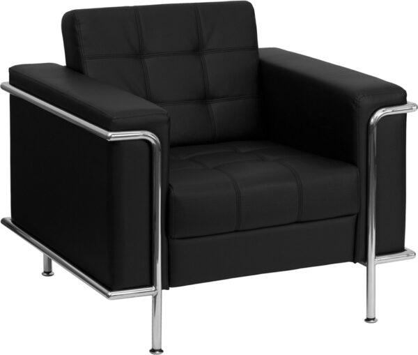 Black leather chair rental