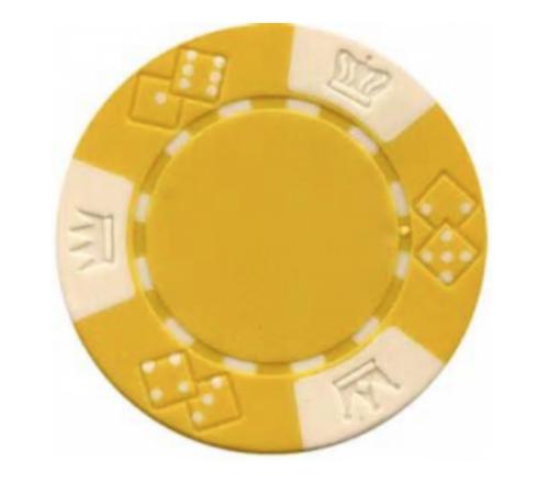 Poker Chip Rental – Yellow