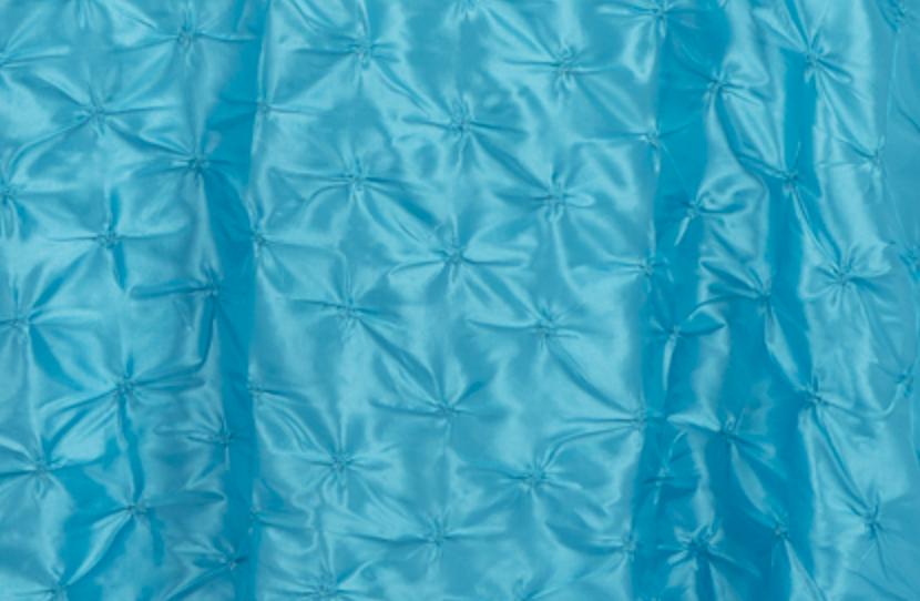 Aqua Blue Pinchwheel Linen