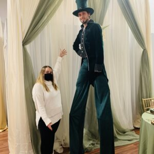 Stilt walker entertainment
