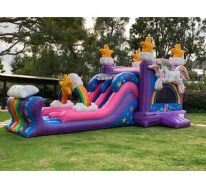Unicorn Bounce House Rental Combo rental